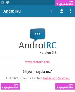 androirc chat programı nasıl indirilir